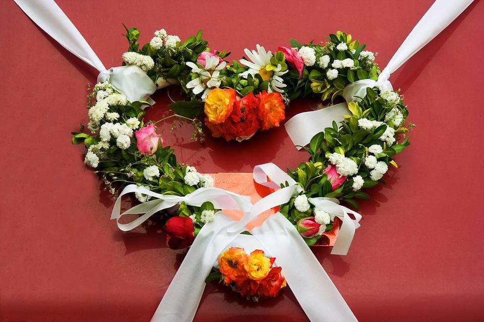Wreath, Flowers, Wedding, Decoration, Floral, Ornament
