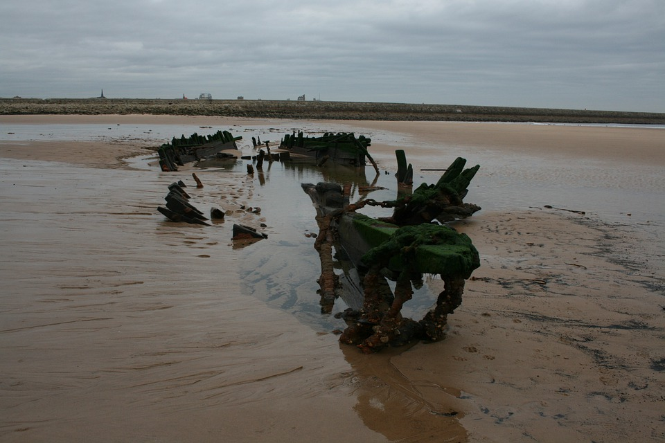 South Shields, Wreck, Anchor, Decay, Sands, Ship