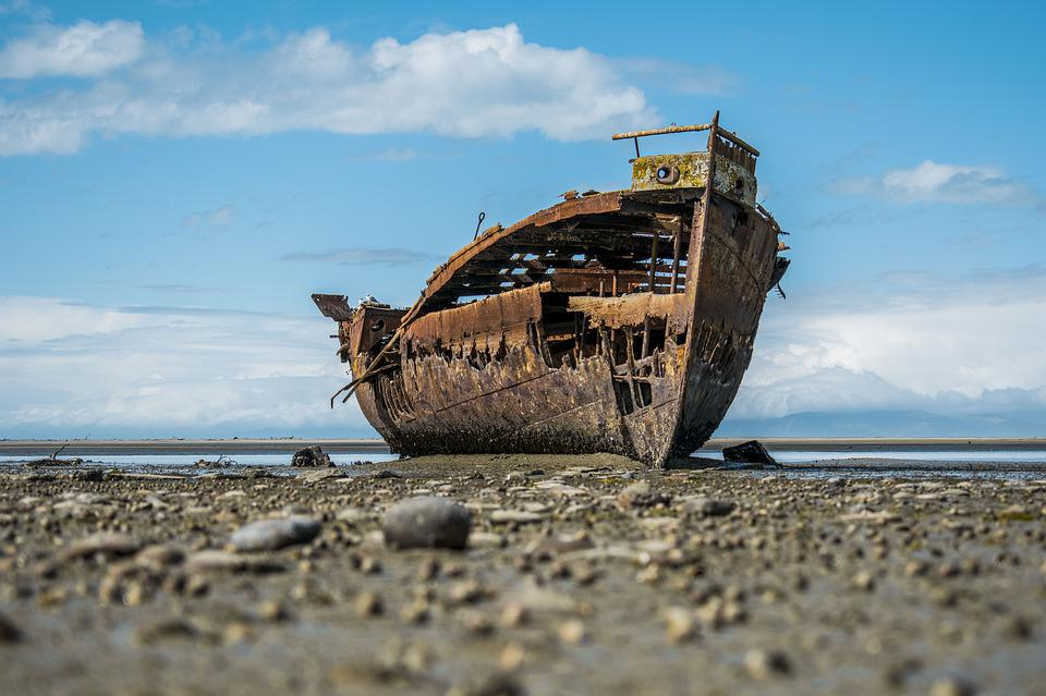 Shipwreck, Boat, Ship, Sea, Wreck, Abandoned, Coast