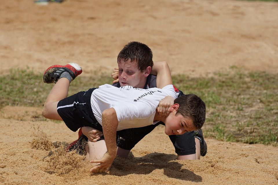 Swing, Wrestle, Sawdust, Guys, Competition