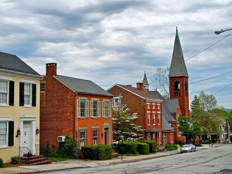 Wrightsville, Pennsylvania, Town, Church, Buildings