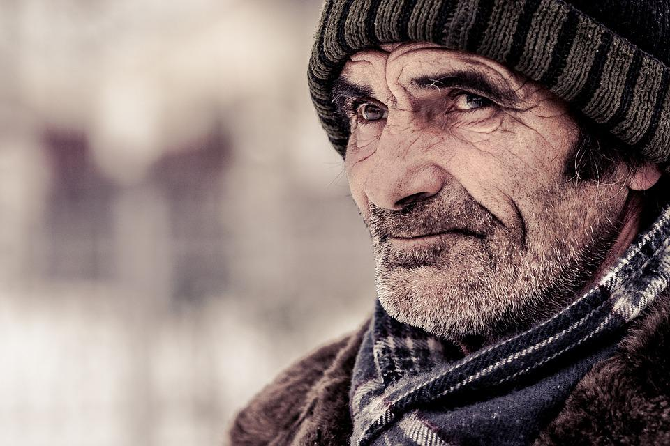 Old Age, Man, Elderly, Cold, Wrinkled, Character