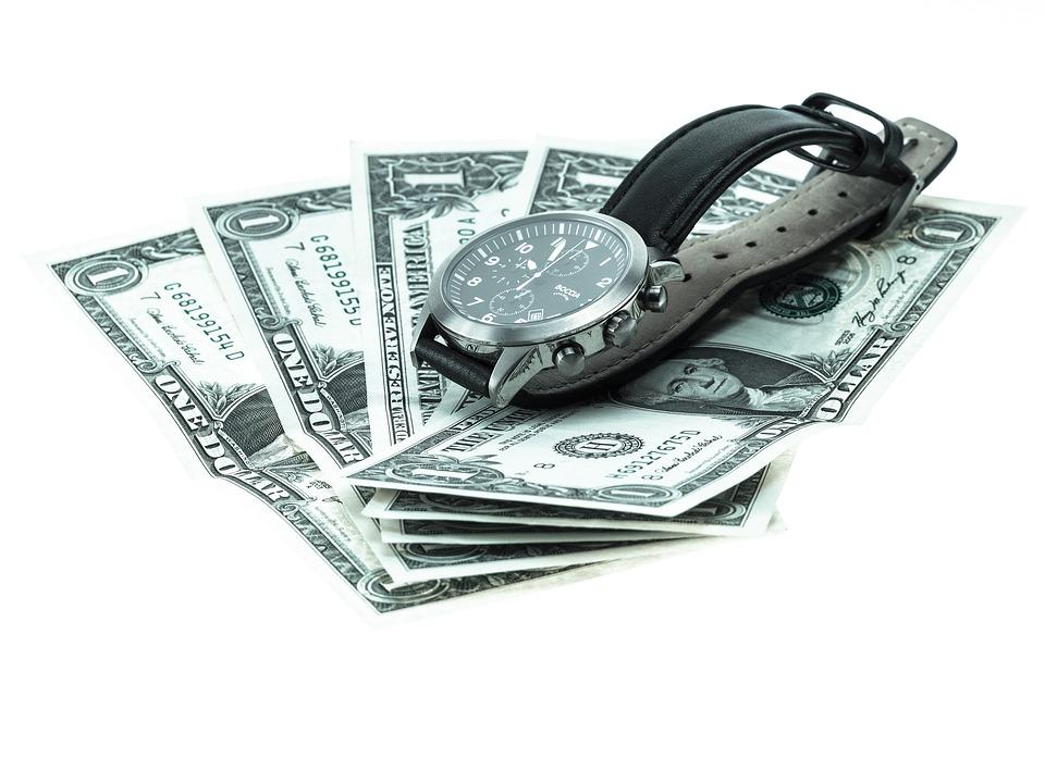Wrist Watch, Money, Analog Clock, Mens, Bank Note