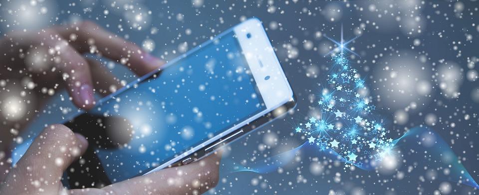 Christmas, Smartphone, Hands, Greetings, Write