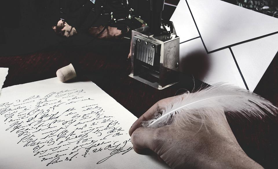 Write, Poet, Poetic, Feather, Pen, Hand, Letters, Paper