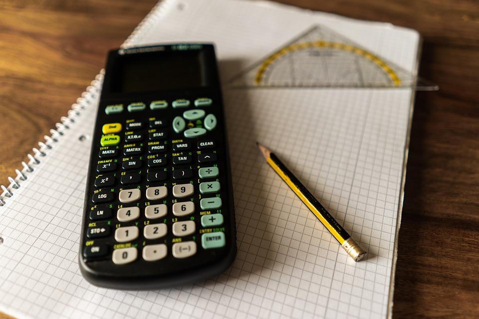 Calculator, Writing Pad, Writing Tool, Schreiber, Study