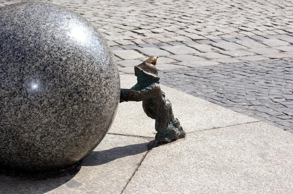 Wroclaw, Dwarf, Imp, Sculpture, Metal, Poland, Fig
