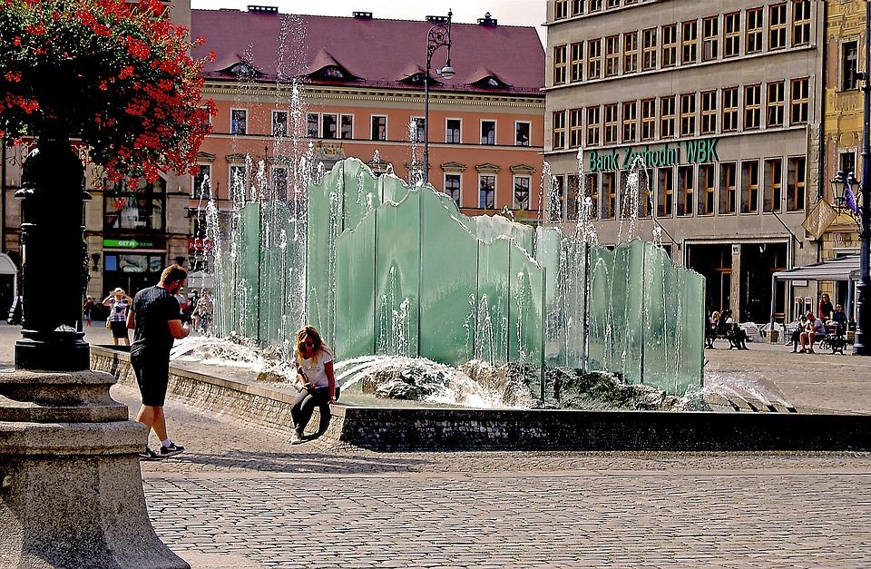 Wrocław, Wrocław Market, Fountain, Ice Fountain