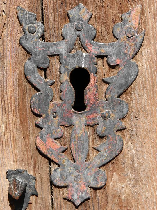 Bolt, Door, Church, Wrought Iron, Old, Key, Open