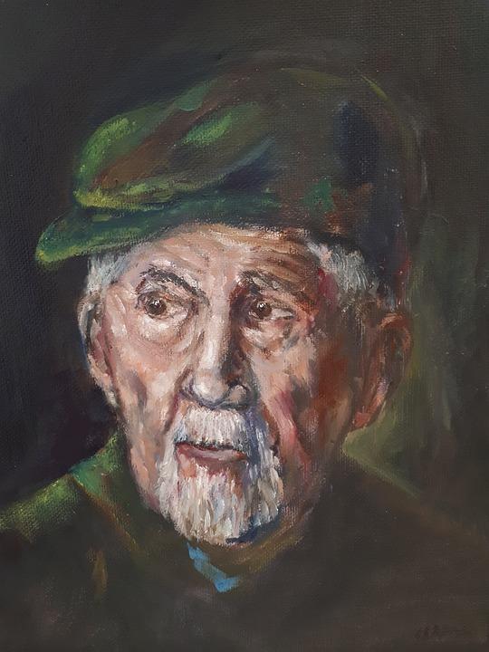 Portrait, Canvas, Oil, 40, X, 50cm