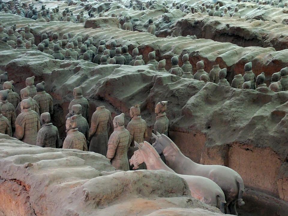 China, Xian, X'ian, Soldiers, Army, Terracotta, Qin
