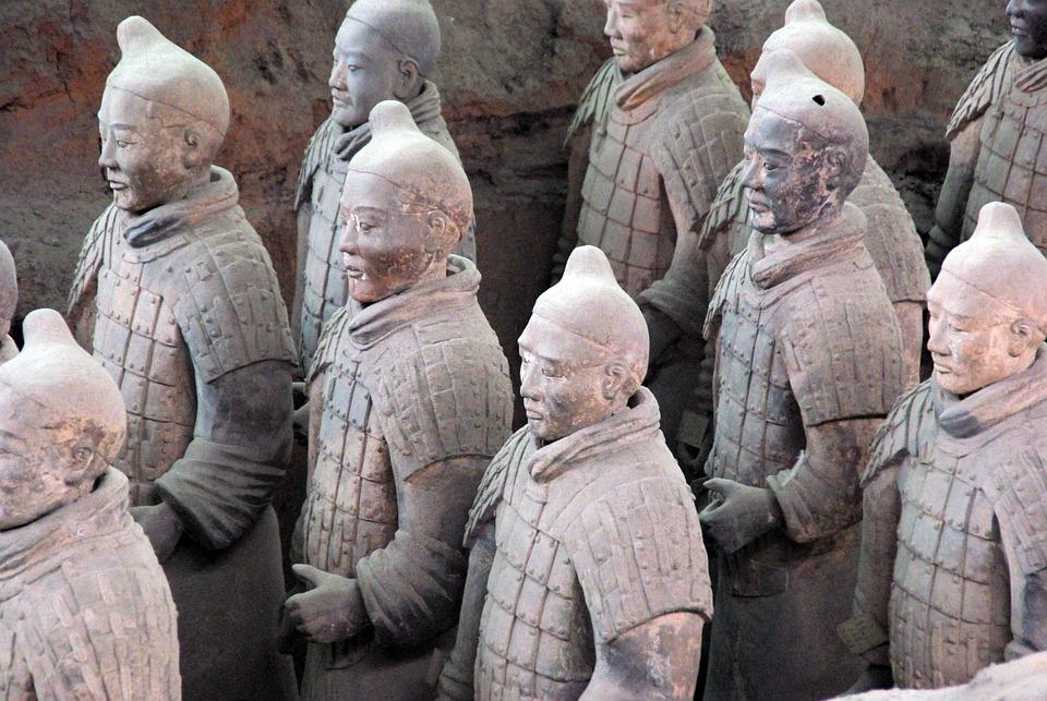 China, Xian, Terracotta, Army, Statue, Pierre