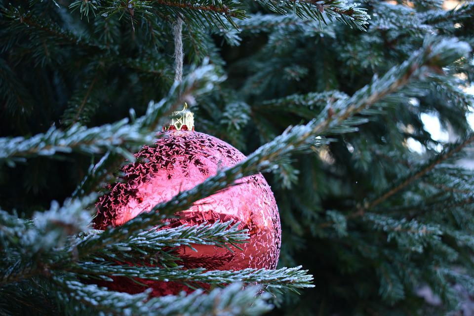 Christmas, Xmas, Bauble, Red, Decoration, Holiday