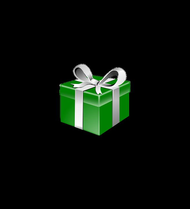 Present, Gift, Green, Ribbon, Christmas, Xmas