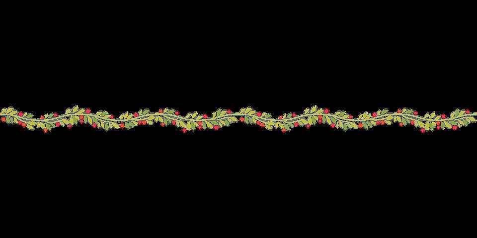 Wavy, Garland, Decoration, Christmas, Xmas, Season