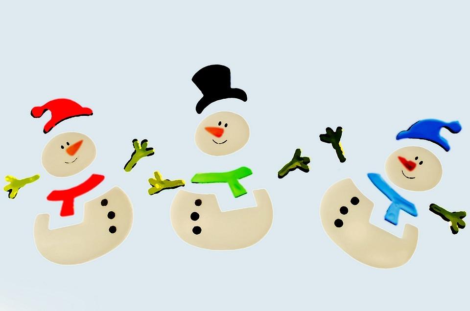 Snowman, Snowmen, Decorations, Color, Christmas, Xmas