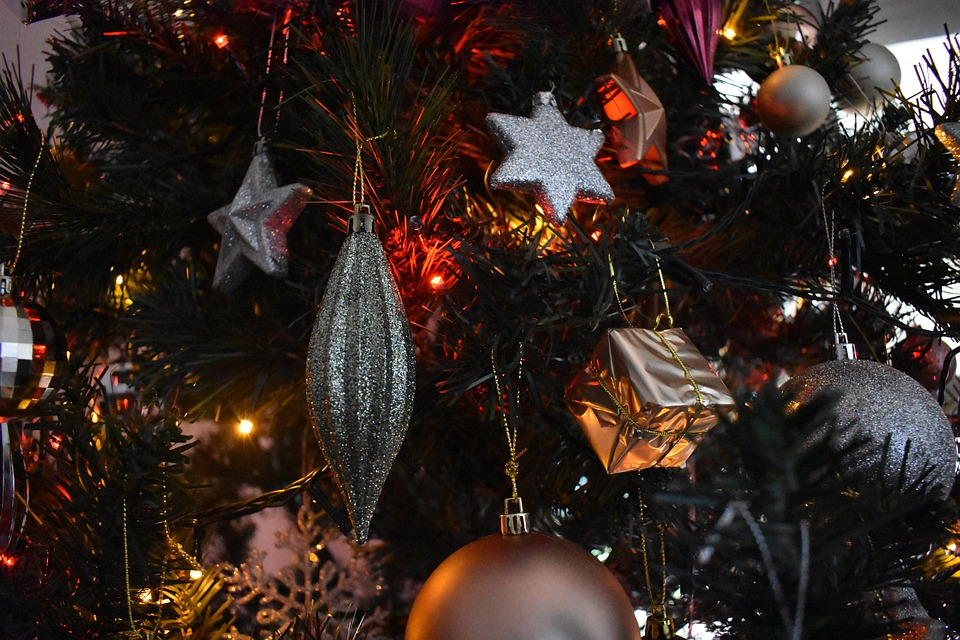 Christmas, Xmas, Lights, Decoration, Holiday, Snow