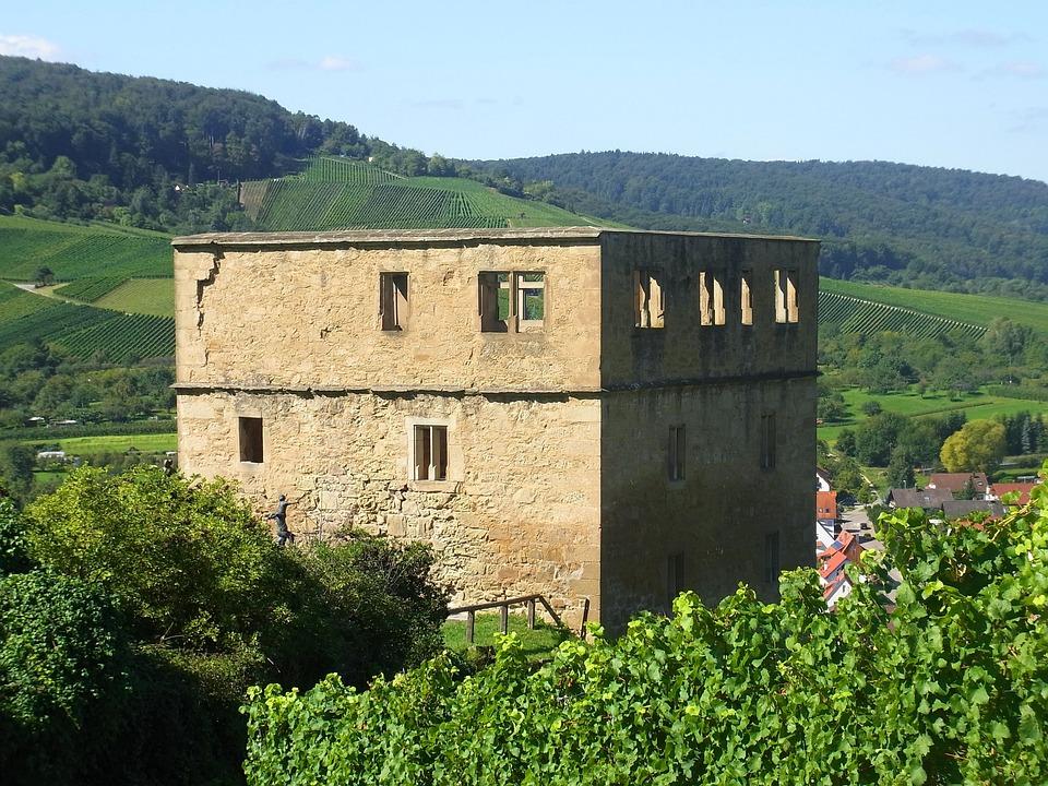 Y Castle, Ruin, Castle, Rock, Stone, Wine, Vineyard
