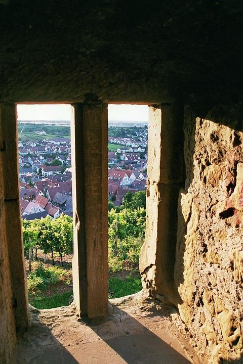 Stetten, Ruin, Y Castle, Window, Stone, Place, Village
