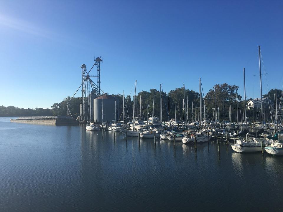 Marina, Boat, Water, Yacht, Harbor, Bay, Nautical, Blue