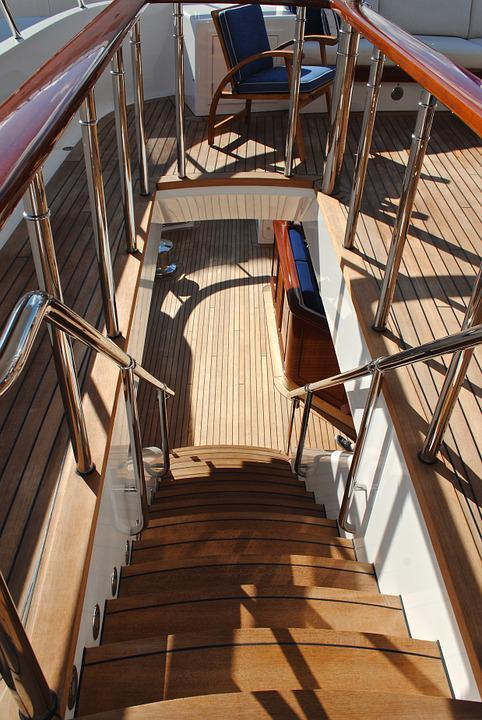 Yacht, Yacht Deck, Yacht Furnishings, Stairwell