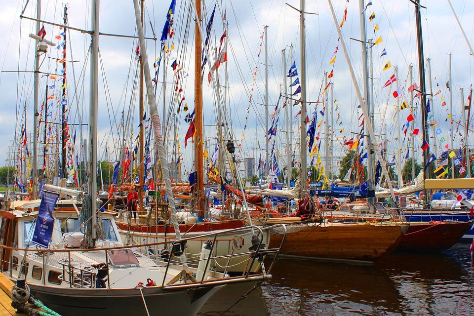 Boats, Riga, Sailboat, Yachting, Water, Summer, Sail