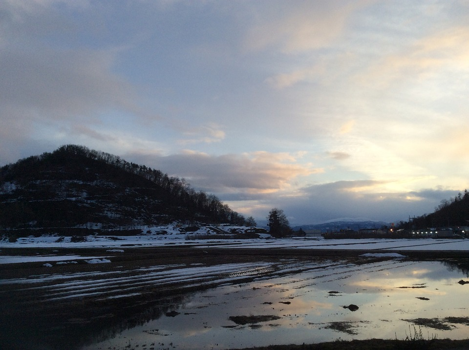 Wintry Weather, Yamada's Rice Fields, Reverse