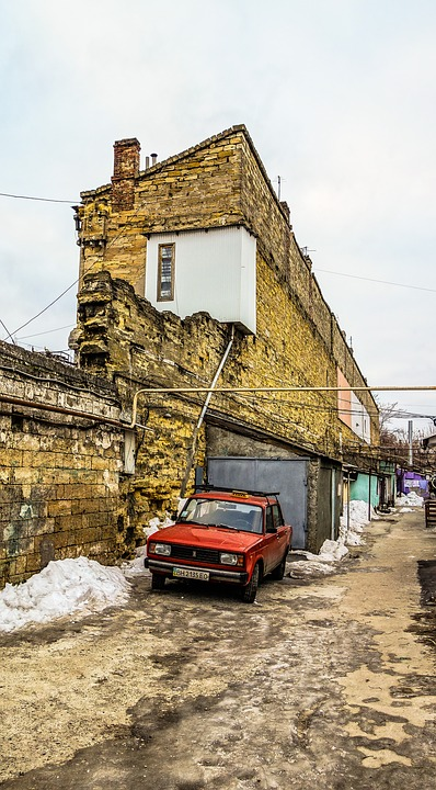Odessa, Yard, Machine, Balcony
