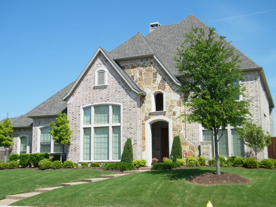 Brick House, Yard, Porch, Architecture, Building, City