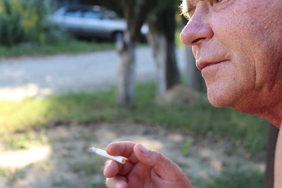 Cigarette, Man, Yard