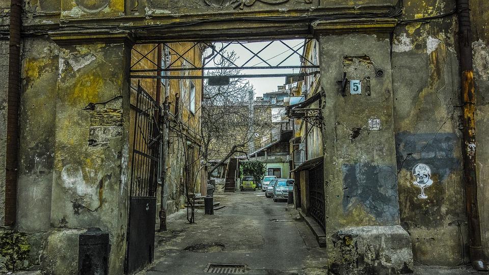 Yard, Wall, Odessa, Gate, Machine