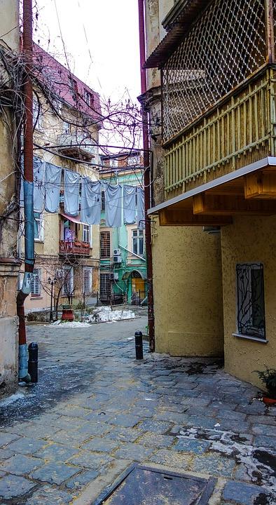 Odessa, Yard, Balcony, Window
