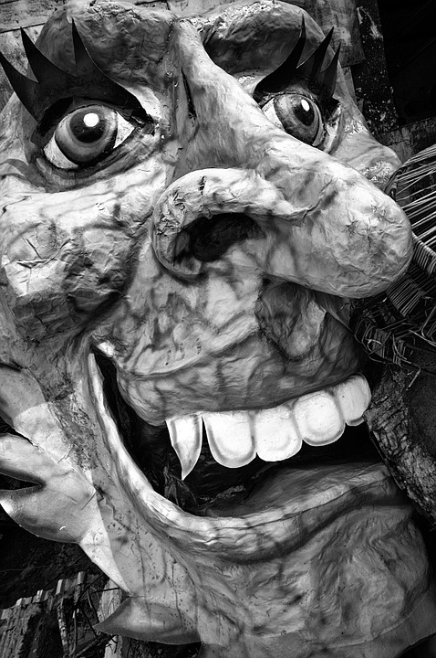 Mask, Face, Yare, Sculpture, Modern, Art, Fat Face