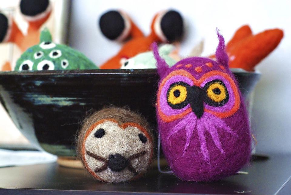 Stuffed Owl, Craft Animals, Yarn Animals, Sewing