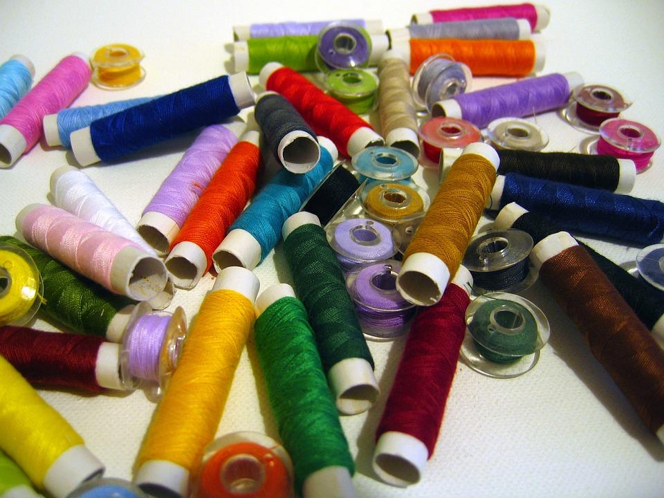 Yarn, Spools Of Thread, Fadenrollen, Thread