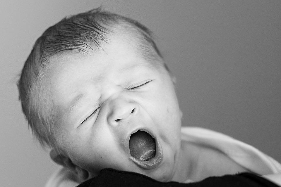 Newborn, Yawning, Early Days, First Year, Parenting
