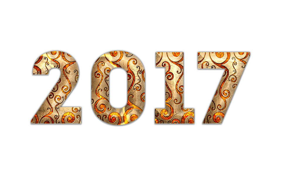 New Year, 2017, New, Year, Festive, Vintage, Typography