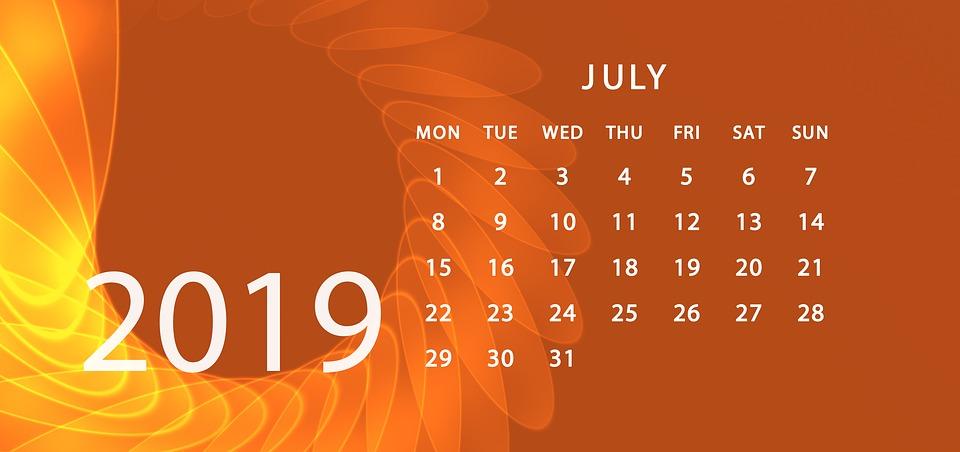 Agenda, Calendar, 2019, Schedule Plan, Year, Date
