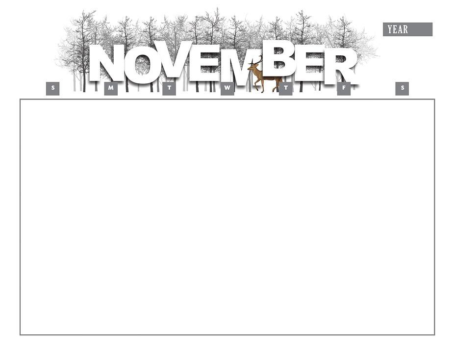 Calendar, November, Year, Month, Calendar Template