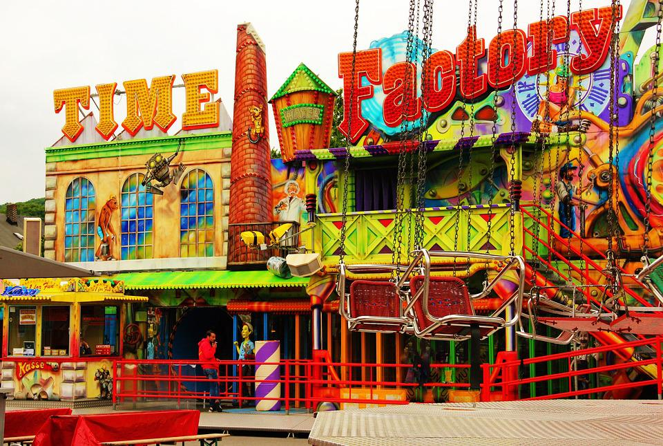Time Machine, Fair, Carnies, Ride, Year Market