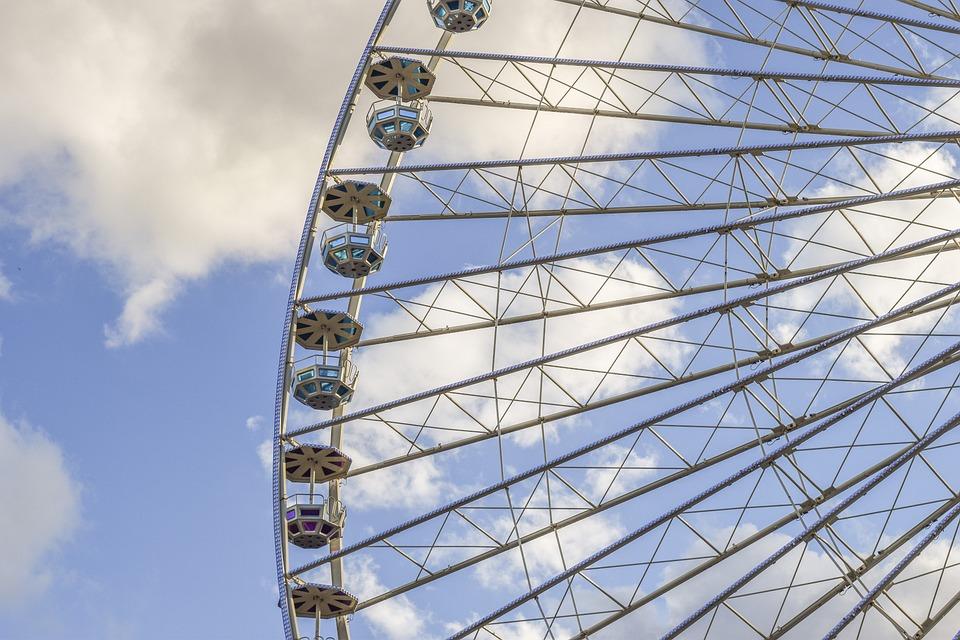 Ferris Wheel, Carousel, Fair, Year Market