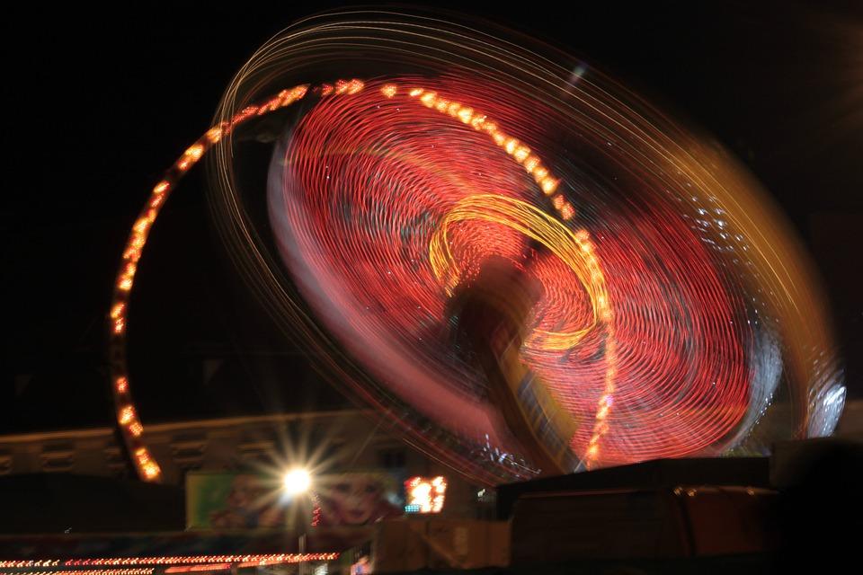 Carousel, Year Market, Folk Festival, Lights, Carnies
