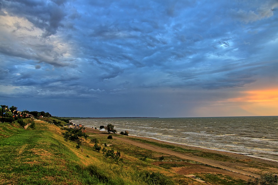 Yeisk, Storm By Ukraine, Sea Of azov