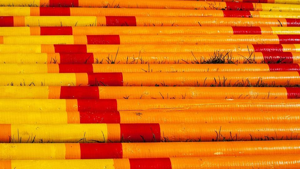 Yellow And Orange Poles, Horse Jump Poles