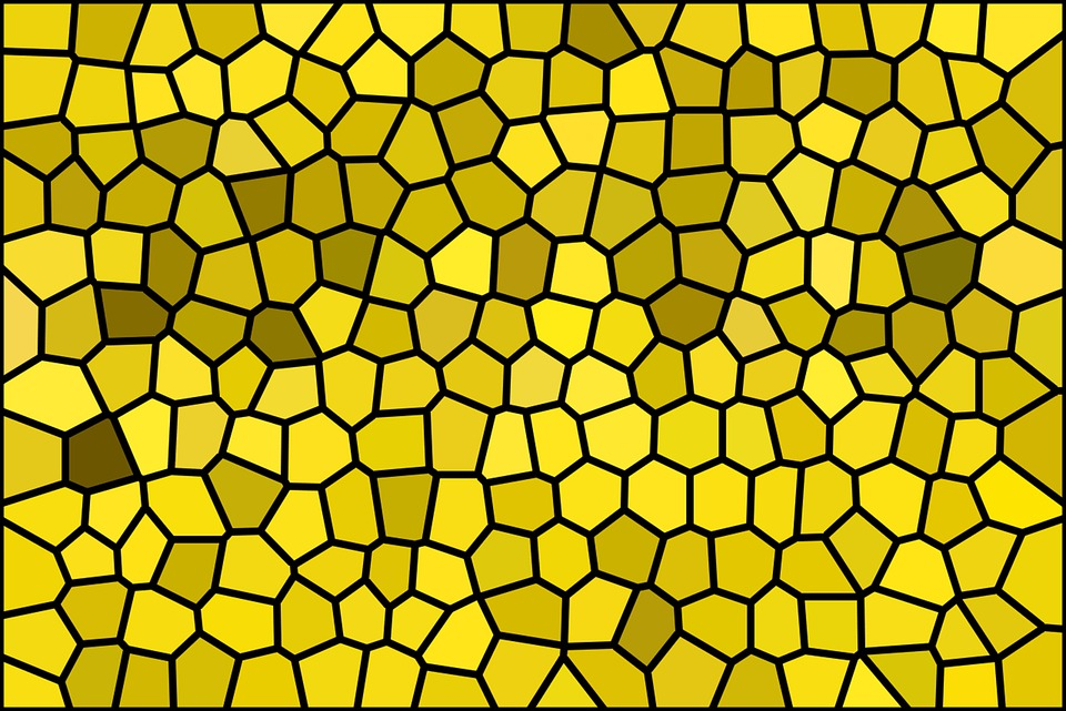 Mosaic, Structure, Background, Pattern, Tile, Yellow