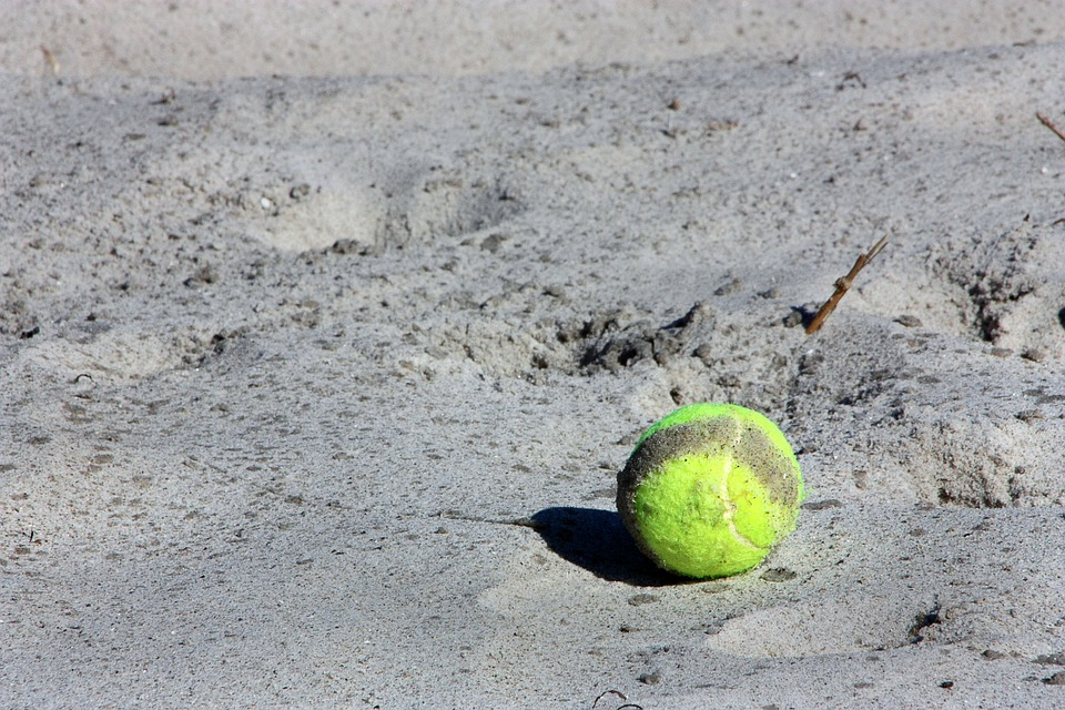 Tennis Ball, Ball, Sport, Yellow, Beach, Sand, Holiday