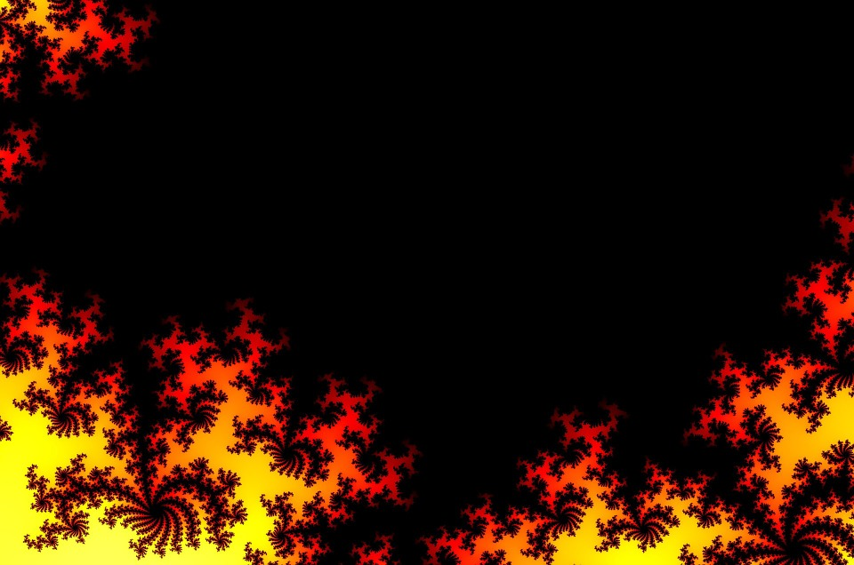 Picture, Fire, Abstract, Yellow, Black, Background, Red