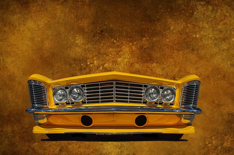 Buick, Car, Auto, Yellow, Bumper, Wallpaper