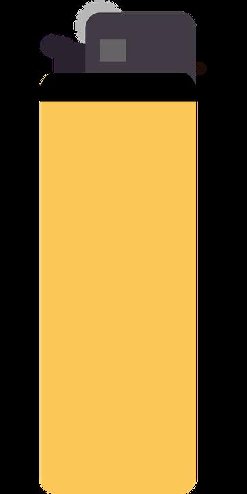 Lighter, Yellow, Cigarette, Fire, Smoking, Orange Fire