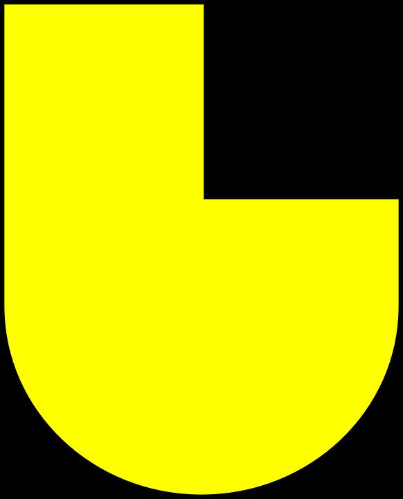 Coat Of Arms, Emblem, Yellow, Black, Square
